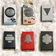 Ek Tools Stampin Up Lot 6 Large Paper Punch Victorian Mustache Topper Triangle