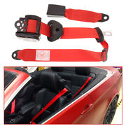 Adjustable Red Car Retractable 3 Point Extension Strap Seat Safety Nylon Belt