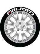 4 X Tyre Stickers Peel And Stick Temporary White Falken Red Dash 1 19-21 Wheels