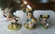 Minnie Mouse Triplets Three Minnie Mouse Figurines Pre 1986 No Chips No Cracks