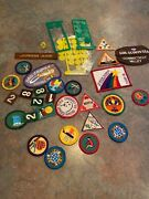 85+ Vintage Girl Scout / Brownie Badges / Patches Triangle Pin