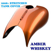 Amber Whiskey Stretched Tank Cover For Harley 2008-20 Street Glide And Road Glide