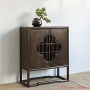 Walnut Chinese Style Storage Cabinet Tea Cabinet Wood End Table Console 1569