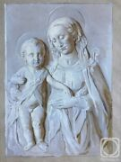 Painting Of The Relief Madonna And Child In Grisaille Technique.