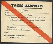 German Occupation Guernsey Covers 194 Tages -ausweis St Peters Port Not Used