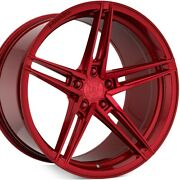20 Rohana Rfx15 20x9 Red Concave Wheels Rims For Audi C6 A6