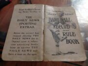 Chicago Daily News Mlb Baseball Schedule 1912 Cubs White Sox Record And Rule