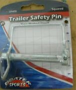 New Boater Sports Trailer Safety Pin 59400 Zinc Plate Steel Outboard