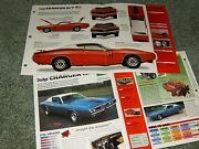 1971 Dodge Charger R/t Spec Info Poster Brochure Ad 71 Rt