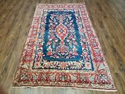 4and039 X 7and039 Vintage Hand Made Turkish Wool Rug Flowers Birds Tree Of Life Blue Red