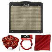 Fender Blues Junior Iv 15 Watt Electric Guitar Amplifier With Instrument Cable A
