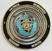 Nypd New York City Police Queens North Patrol Borough Spinner Challenge Coin