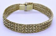 8 Imperial Gold 14k Solid Yellow Gold 1/2 Thick Diamond Cut Panther Bracelet