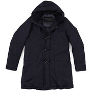 Nwt 895 Schneiders Down-filled Technical Toggle-front Parka M Duffle Coat