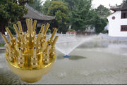 2inch 3 Layers Water Fountain Nozzle 17 Sprinklers Brass Spray Head