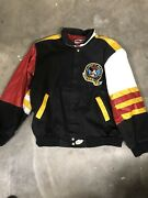 Vintage Jeff Hamilton Mickey Mouse Wild One Canvas And Leather Jacket Size Xl