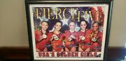 Signed/ Framed The Fierce Five 2012 Usa's Golden Girls Gymnastics Olympic Poster