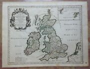 Great Britain Ireland Dated 1677 Giacomo Rossi Large Antique Map 17th Century