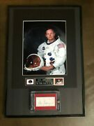 Neil Armstrong Signed Christmas Card Cut Psa Authenticated