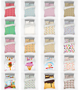 Ambesonne Ice Cream Bedding Set Duvet Cover Sham Fitted Sheet In 3 Sizes