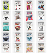 Ambesonne Pug Dog Bedding Set Duvet Cover Sham Fitted Sheet In 3 Sizes