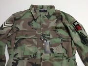 Polo Military Army Camo Officer Chevron Soldier Camp Shirt Jacket