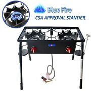 Outdoor Camping Double Burner Stove High Pressure Cast Iron Propane Burner Stove