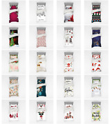 Ambesonne Happy Xmas Bedding Set Duvet Cover Sham Fitted Sheet In 3 Sizes