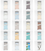 Ambesonne Pastel Design Bedding Set Duvet Cover Sham Fitted Sheet In 3 Sizes