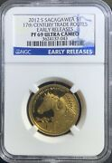 2012 S Sacagawea 1 17th Century Trade Routes Early Releases Pf69 Ultra Cameo