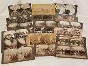 Lot Of 18 Antique Stereoview Cards Assorted Keystone, Griffith, Underwood, Etc