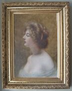 Superb Oil Portrait On Canvas By Famous Gilded Age Artist Frederick B. Schell