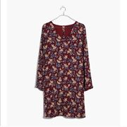Nwt Madewell Button Back Dress In Antique Flora Small