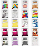 Ambesonne Geometric Shapes Bedding Set Duvet Cover Sham Fitted Sheet In 3 Sizes