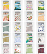 Ambesonne Spring Pattern Bedding Set Duvet Cover Sham Fitted Sheet In 3 Sizes