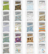 Ambesonne Sketch Pattern Bedding Set Duvet Cover Sham Fitted Sheet In 3 Sizes