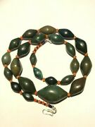 Antiques Beads Of Green Jade Or Aventurine Jade Antique Old Beads