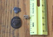 3 Army West Point Pins Usma Vintage Lapel Or Hat Badge Crest Country Honor Duty