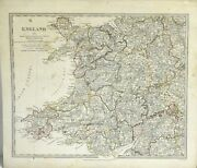 Map Of England Part Ii Map Of Wales From Maps Modern And Ancient / 1830 290150