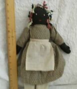 Folk African American Cloth Dolls Mother And Son