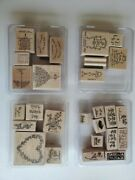 Stampin Up Stamp Sets Ink Pads Memory Book Eyelets Twineandnbsp And More - Lot