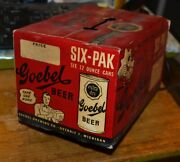 Vtg 1950s Goebel Extra Dry Cardboard 6 Pack Beer Can Box Only Carton Rare