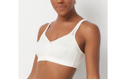 Breezies Jacquard Shine Unlined Wirefree Support Bra Ivory 44 C A371344