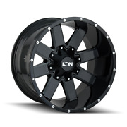 20x10 Ion 141 37 Mt Black Wheels Rims And Tire Package 8x170 Ford Super Duty F350