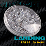 Led Landing Light For Aircraft Spot Lens 4509 Par36 Size |10-30vdc
