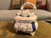 Victorian Fairing Trinket Box Conta And Boehme Style Clock On Dresser