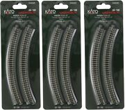 Lot Of 3- N Scale Kato Unitrack 20-100 Curved Track R249-45° 4 Pieces Per Pack