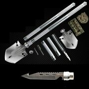 Outdoor Survival Tactical Folding Camping Shovel With Battle Axe Multitool 1434