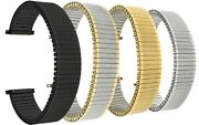 Bandini Steel Stretch Watch Strap Expansion Watch Band Silver Gold 12mm-22mm