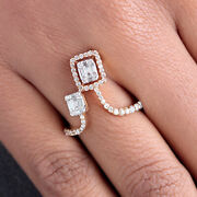 Solid 18k Rose Gold Pave Real Diamond Wrap Ring Designer Jewelry New Collection